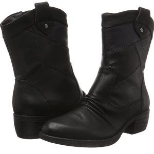 Rieker Side Zip Lined Heeled Textured Boot Size 40